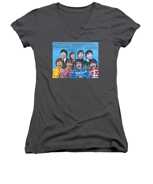 Sgt.pepper's Lonely Hearts Club Band Women's V-Neck T-Shirt