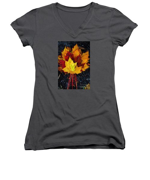 Shade Of Autumn  Women's V-Neck T-Shirt