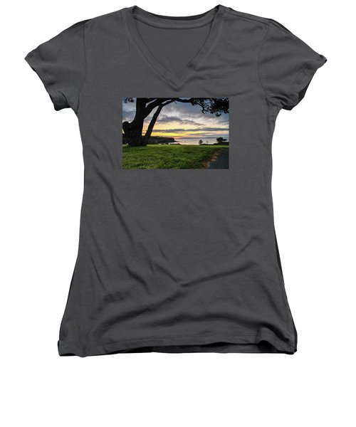 Shaded Sunrise Women's V-Neck T-Shirt