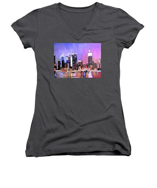 Shades Of Twilight Women's V-Neck T-Shirt
