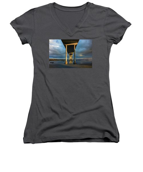 Shadow And Light Women's V-Neck T-Shirt