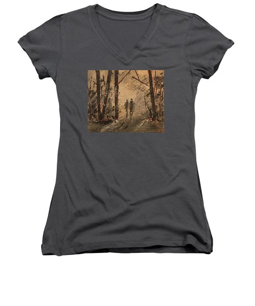Shadow Of A Doubt Women's V-Neck (Athletic Fit)