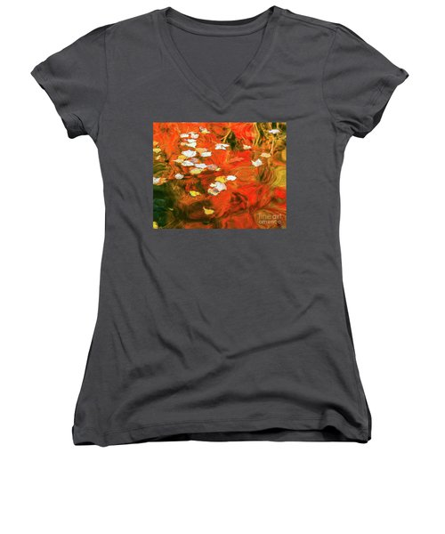Shadow Of The Red Dragon Women's V-Neck