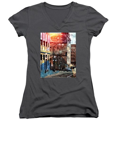 Shadow On St. Paul Women's V-Neck T-Shirt (Junior Cut) by Susan Stone