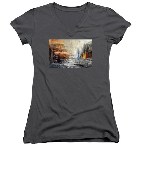 Shadowlands Women's V-Neck T-Shirt (Junior Cut) by Tatiana Iliina
