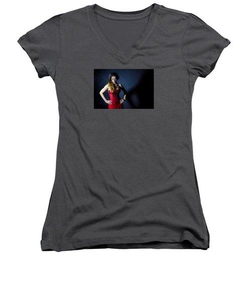 Shadows Women's V-Neck T-Shirt (Junior Cut) by Robert Krajnc