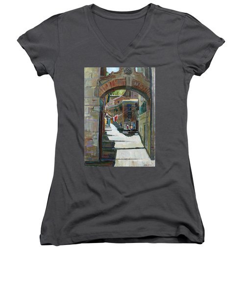 Shadows The Old Town Women's V-Neck (Athletic Fit)