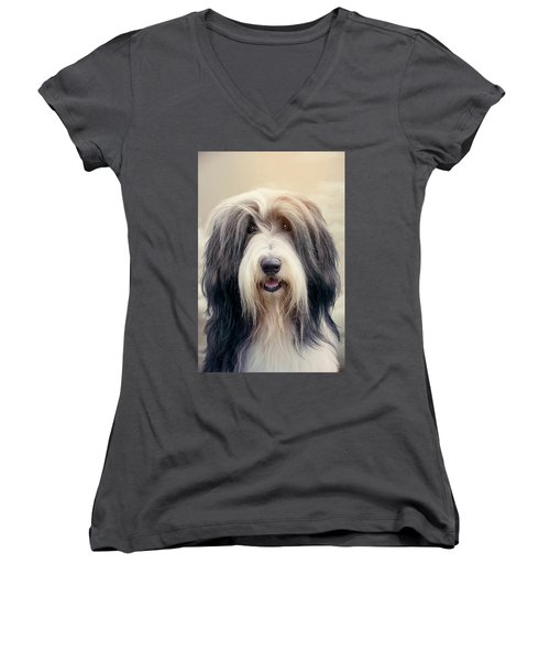 Shaggy Dog Women's V-Neck (Athletic Fit)