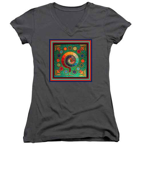 Shaman Serpent Ritual Women's V-Neck (Athletic Fit)