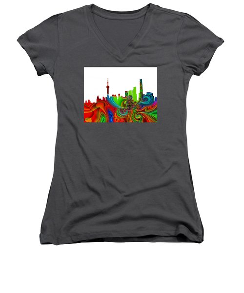 Shanghai  Women's V-Neck