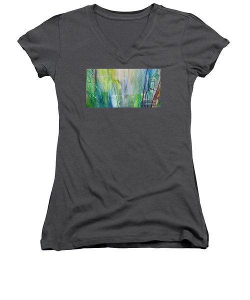 Shapes And Colors Women's V-Neck T-Shirt (Junior Cut) by Dan Whittemore