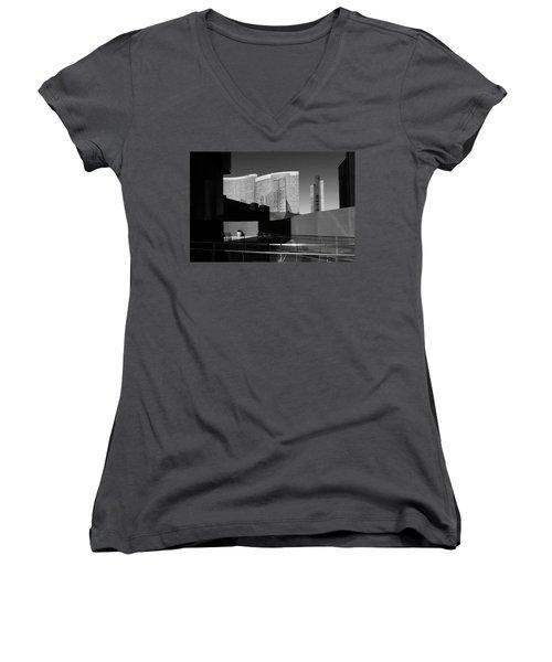 Shapes And Shadows 3720 Women's V-Neck T-Shirt (Junior Cut) by Ricardo J Ruiz de Porras
