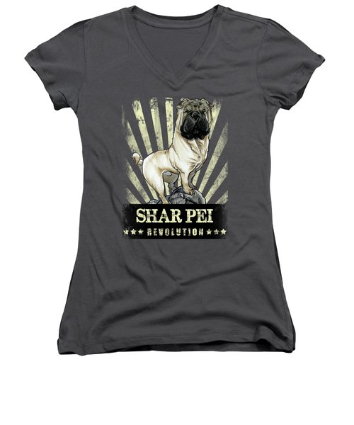 Shar Pei Revolution Women's V-Neck