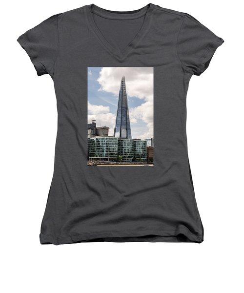 Shard Building In London Women's V-Neck