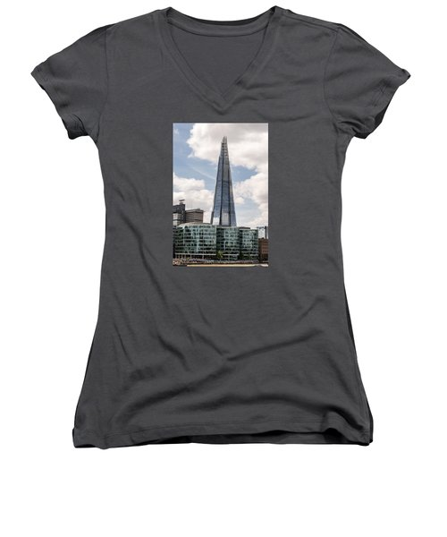 Shard Building In London Women's V-Neck (Athletic Fit)