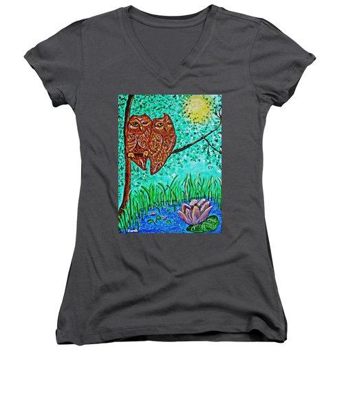 Shared Moonlight Women's V-Neck T-Shirt