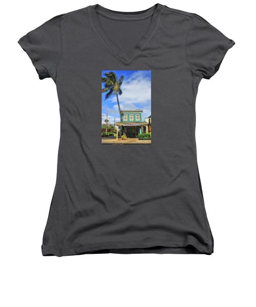 Women's V-Neck T-Shirt (Junior Cut) featuring the photograph Shave Ice by DJ Florek