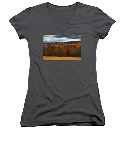 Shawangunk Mountains Hudson Valley Ny Women's V-Neck