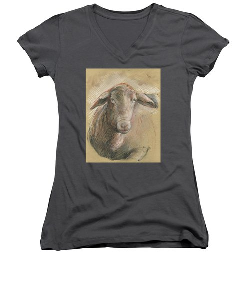 Sheep Head Women's V-Neck (Athletic Fit)