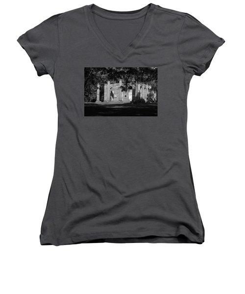Sheldon Church 7 Bw Women's V-Neck T-Shirt