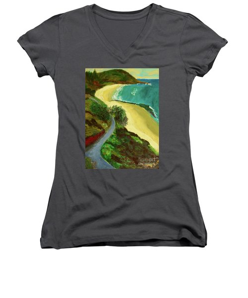Shelly Beach Women's V-Neck T-Shirt