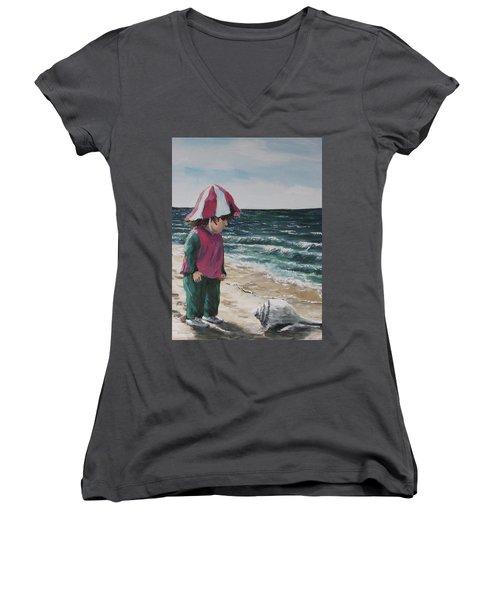 Shello Women's V-Neck T-Shirt (Junior Cut) by Jack Skinner