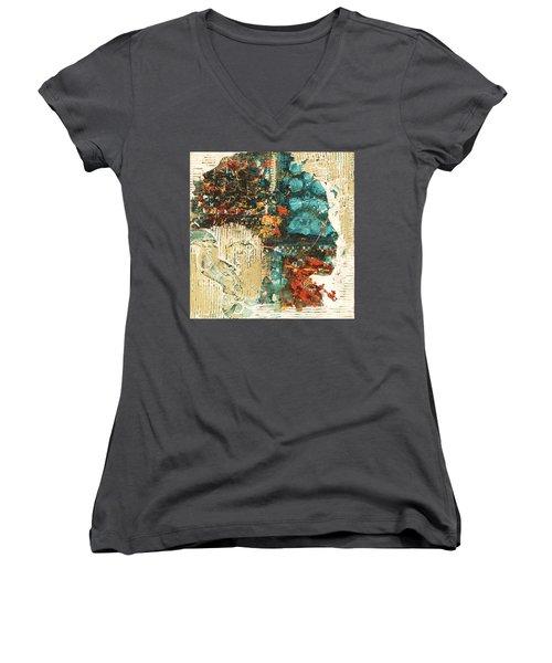 Shestrak Women's V-Neck T-Shirt (Junior Cut) by Alga Washington