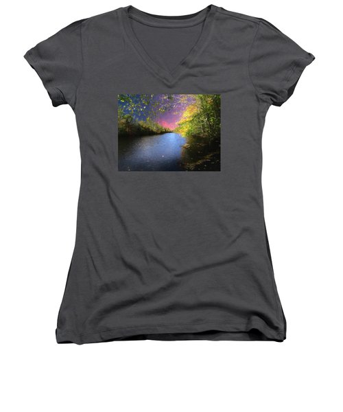 Shetucket River Ct. Women's V-Neck (Athletic Fit)