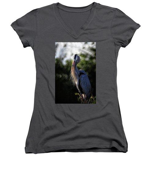 Shhhhh Women's V-Neck T-Shirt (Junior Cut) by Cyndy Doty