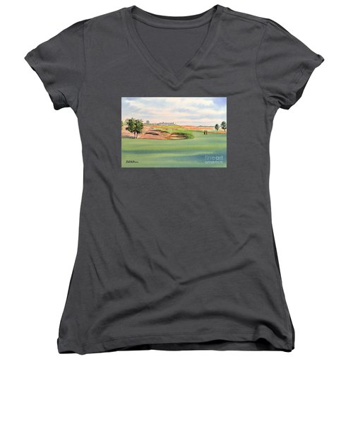 Shinnecock Hills Golf Course Women's V-Neck (Athletic Fit)