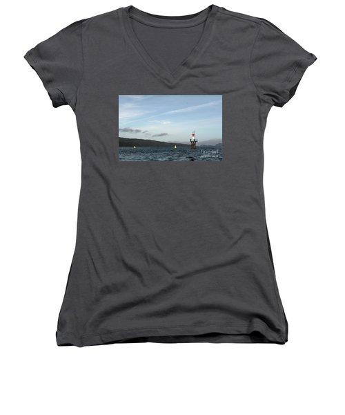Shoal Marker Women's V-Neck T-Shirt