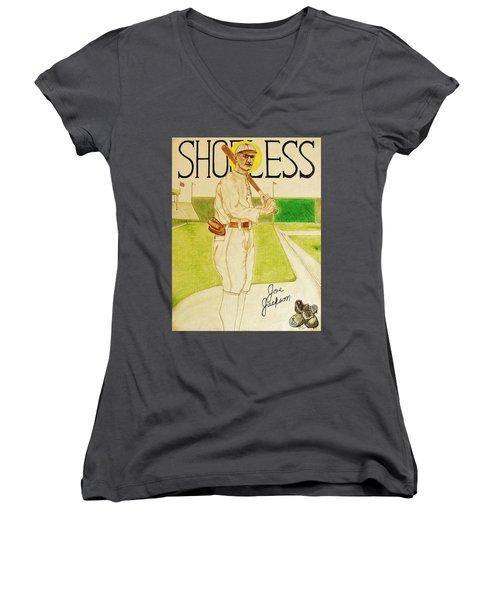 Shoeless Joe Jackson Women's V-Neck T-Shirt