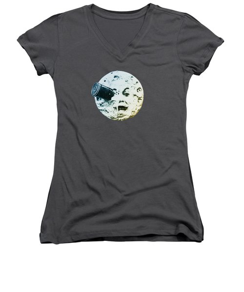 Shoot The Moon Women's V-Neck T-Shirt
