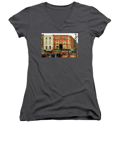 shopping on Grafton Street in Dublin Women's V-Neck