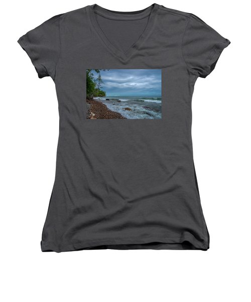 Shoreline Clouds Women's V-Neck