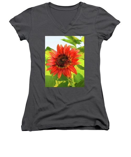 Short Bloom Women's V-Neck (Athletic Fit)