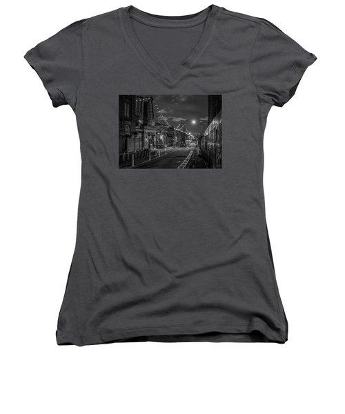 Shortcut Women's V-Neck T-Shirt (Junior Cut) by Jeffrey Friedkin