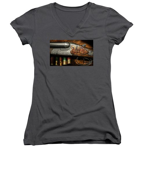 Shotgun  Women's V-Neck (Athletic Fit)