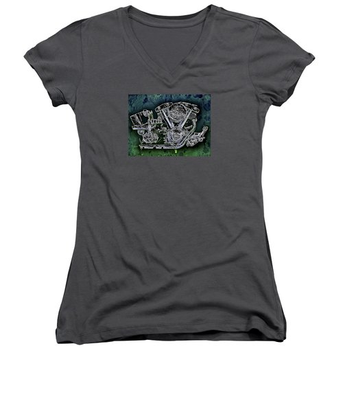 Harley - Davidson Shovelhead Engine Women's V-Neck