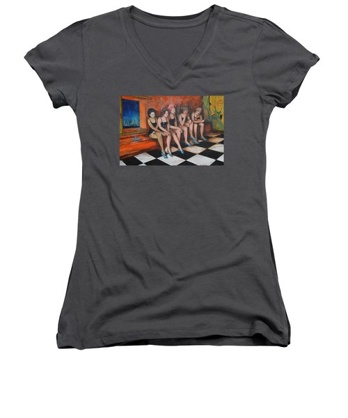 Showgirls  Women's V-Neck T-Shirt