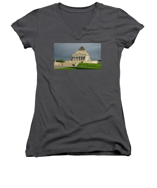 Shrine Of Remembrance Women's V-Neck
