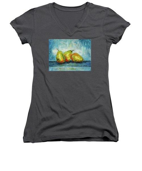 Siblings Women's V-Neck T-Shirt (Junior Cut) by Janet Garcia