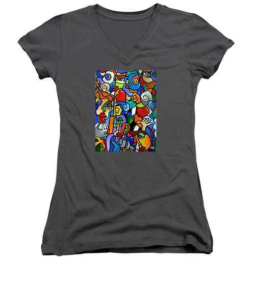 Side Show Women's V-Neck (Athletic Fit)
