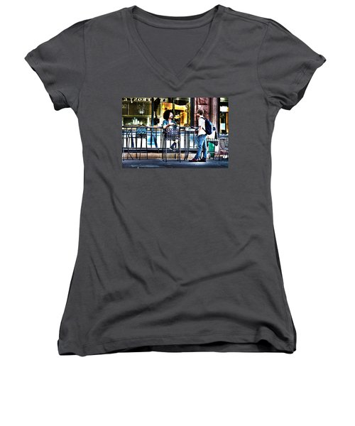 048 - Sidewalk Cafe Women's V-Neck