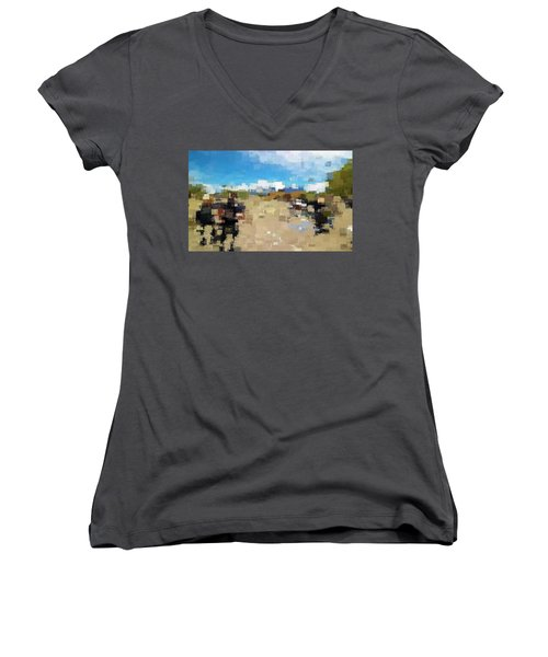 What Do You See? Women's V-Neck