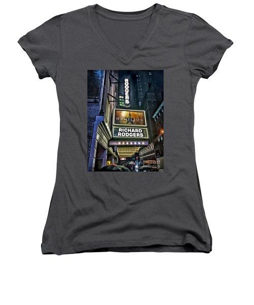 Sights In New York City - Hamilton Marquis Women's V-Neck T-Shirt