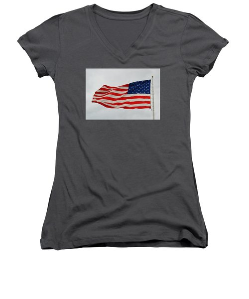Sign Of Freedom Women's V-Neck (Athletic Fit)