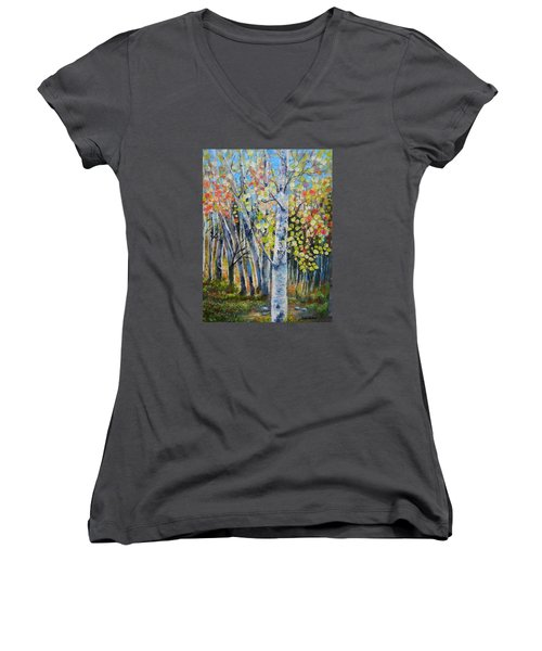 Signs Of Autumn Women's V-Neck (Athletic Fit)