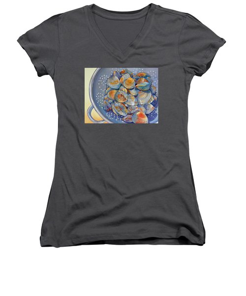 Silence Of The Clams Women's V-Neck (Athletic Fit)