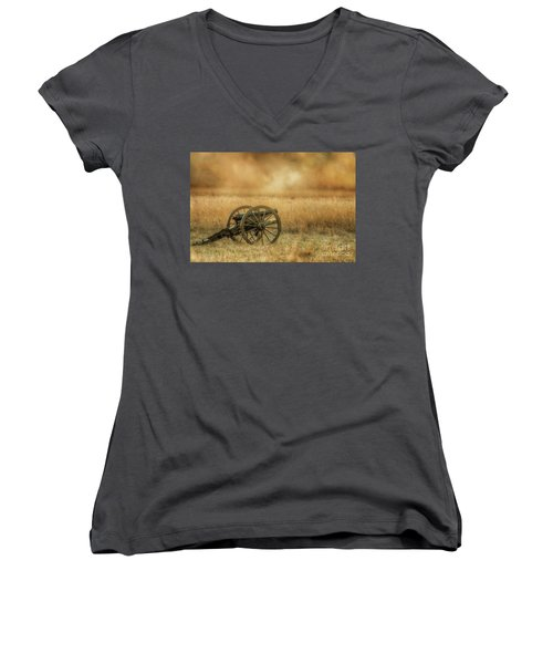 Silent Cannons At Gettysburg Women's V-Neck (Athletic Fit)